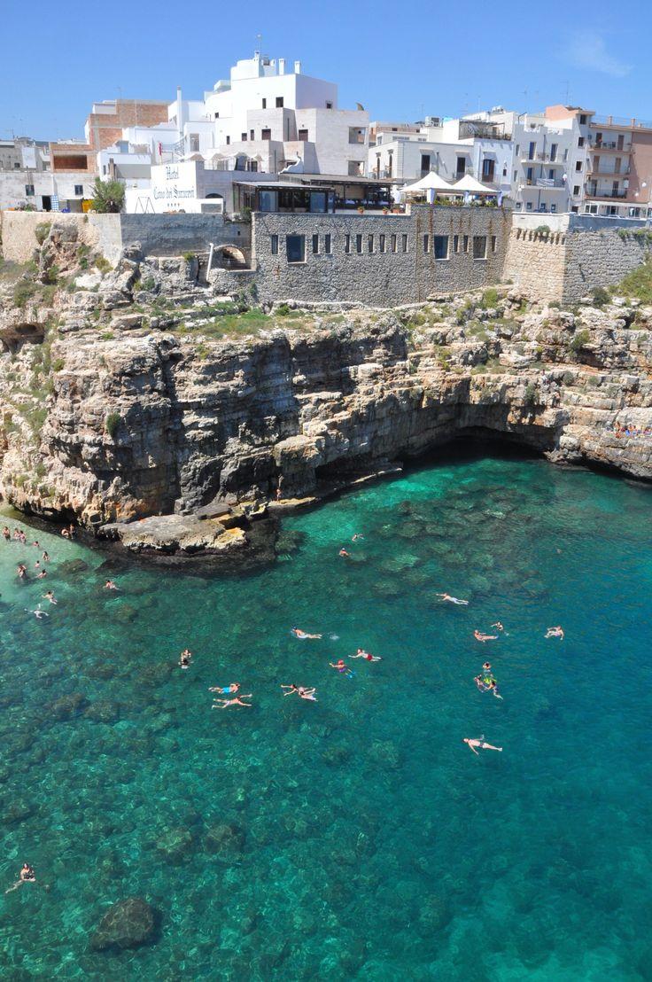 Polignano a Mare and beach, puglia Italy