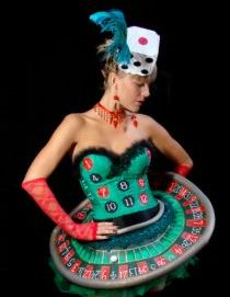 #Casino #Fashion - #Roulette inspired dress - perfect for a Casino Dress-up