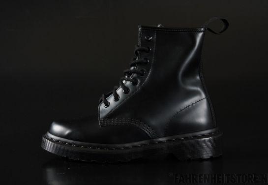 Dr Martens - Dr Martens 1460 Mono Black Noir Smooth  - Fahrenheitstore