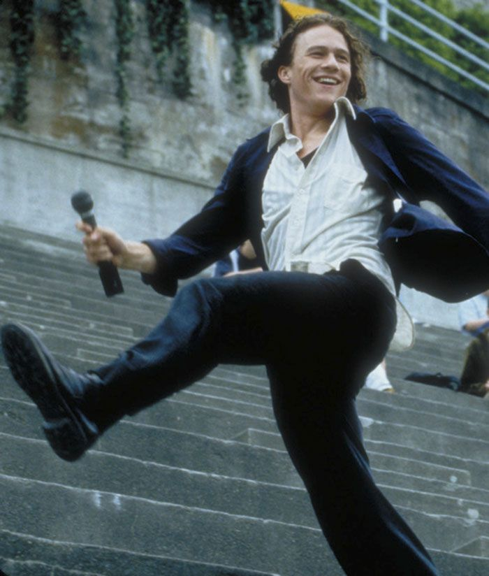 "Heath Ledger en ""!0 razones para odiarte"" (10 Things I Hate about You), 1999"