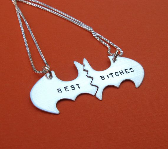 This Batman-inspired pendant. | 27 Tokens Of Friendship You Need To Buy For Your BFF Right Now