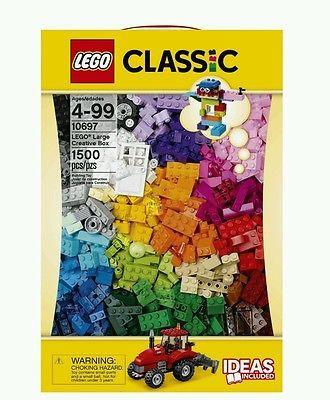 Large Lego Blocks Classic New 1500 Pieces Creative Box Set Kids Toys Building