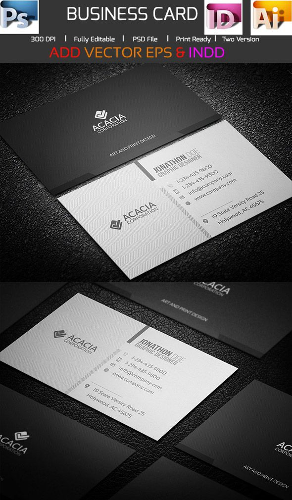 Best Business Card Images On Pinterest Business Card Design - Illustrator business card templates