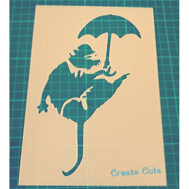 Banksy Umbrella Rat reusable stencil