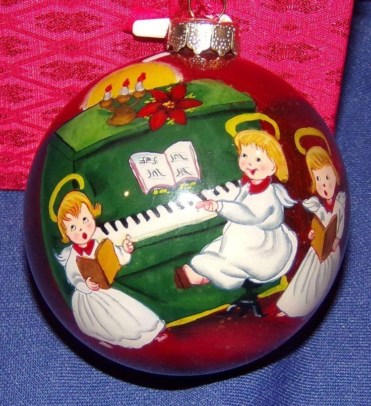 FIGI Inside Art glass ball Christmas ornament