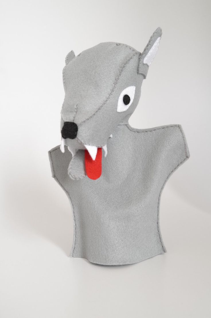 A personal favourite from my Etsy shop https://www.etsy.com/listing/232343913/wolf-hand-puppet-children-toy-theatre