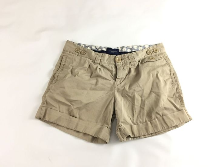 American Eagle Outfitter Womens short Pants Shorts Khaki Size 6 Live Your Life #AmericanEagleOutfitters #CasualShorts