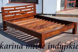 kolonialne łóżko 180 cm LD-476 brown