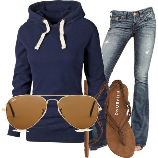 Like the idea of distressed jeans with a simple hoodie, cute sandles and some rocking sunnies. Perfect for spring days at home with the kids.