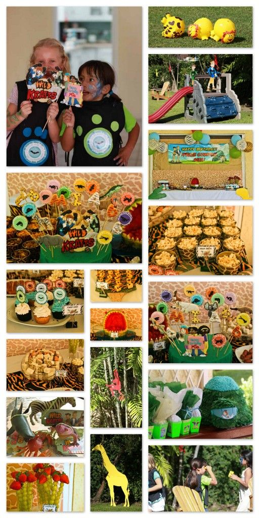 For instructions, ideas, tips, visit http://caromgar.blogspot.com. I got my ideas form the sites in this Pinterest board: http://pinterest.com/scrappingnomad/wild-kratt-s-party/