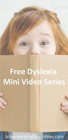 Join our email and as a thank you get our FREE Dyslexia Mini Video Series.  Dyslexia, Kids with Dyslexia, Dyslexic, Dyslexia in Kids, Struggling Reade…