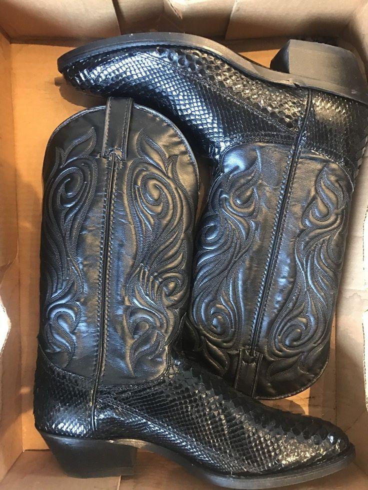 LAREDO MENS GENUINE PYTHON BLACK SNAKESKIN COWBOY BOOTS 028-06732 11 D | eBay