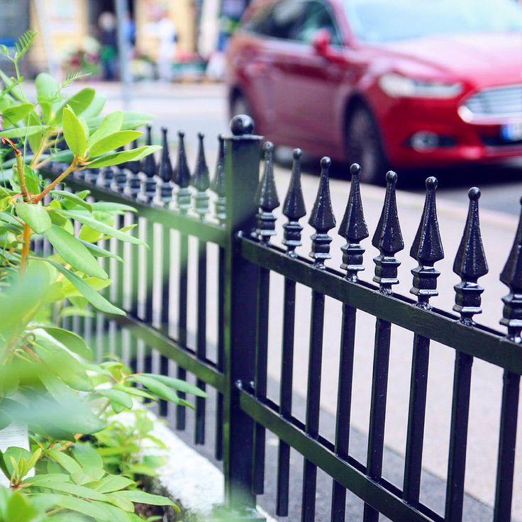 Her er et lite glimt fra en fortaushage vi har laget på Frogner. Med et lavt støpejernsgjerde, grønne planter og rhododendron som etterhvert vil friske opp gata med blomster og farger!  Små hager - store gleder!  #bygartnerne #anleggsgartner #oslo #oslosommer #oslove #oslobilder #hage #byhage #byliv #bymiljø #uterom #utemiljø #fortaushage #urbangarden #streetlife  #minihage #frogner #hageglede #grønnglede