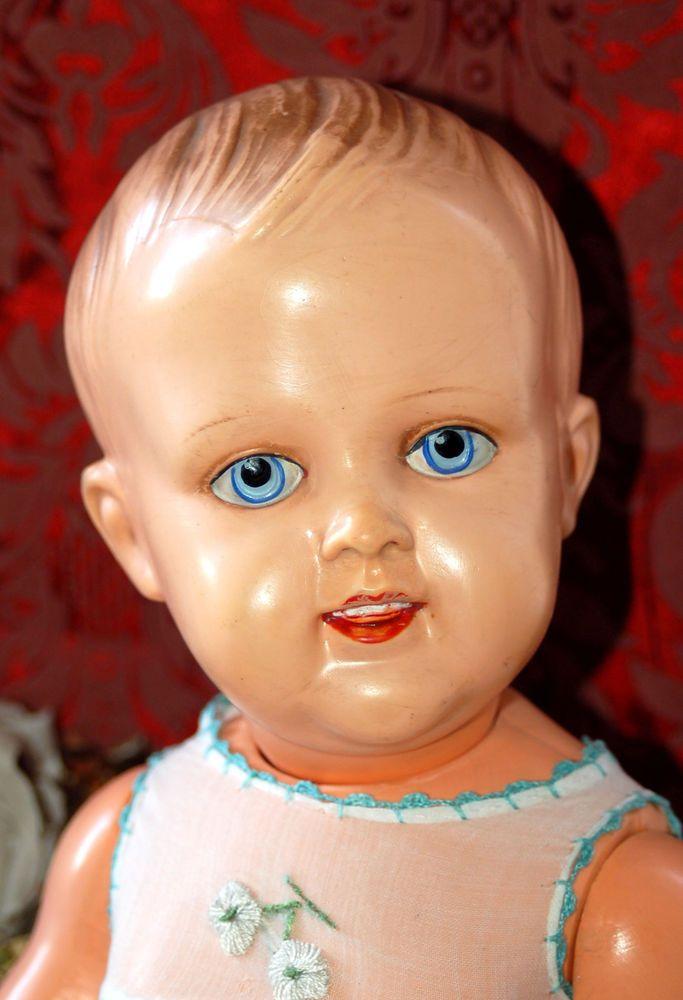 zauberhafte  ASK Zelluloid Baby Puppe -  antik - Adam Schreyer Kalisch -  52cm  | eBay