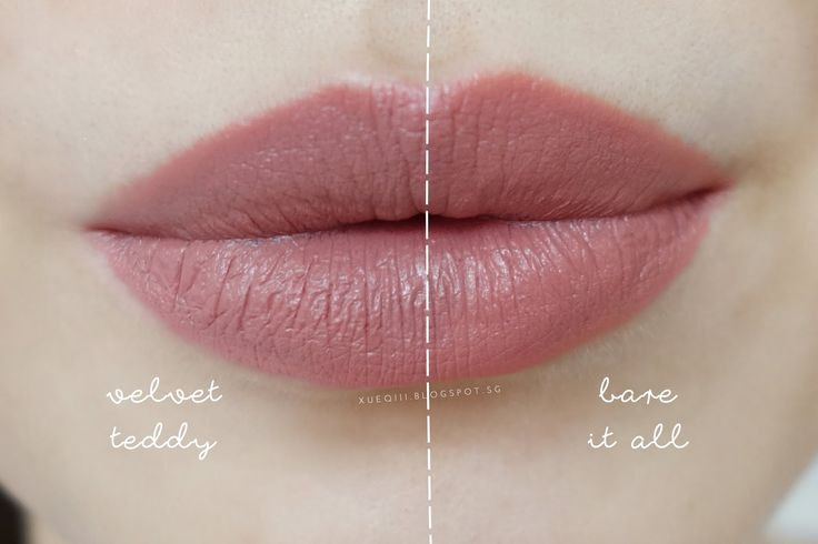 Wet n Wild MegaLast Lip Color in Bare It All vs MAC Velvet Teddy Lipstick Comparison Dupe Lip Swatch