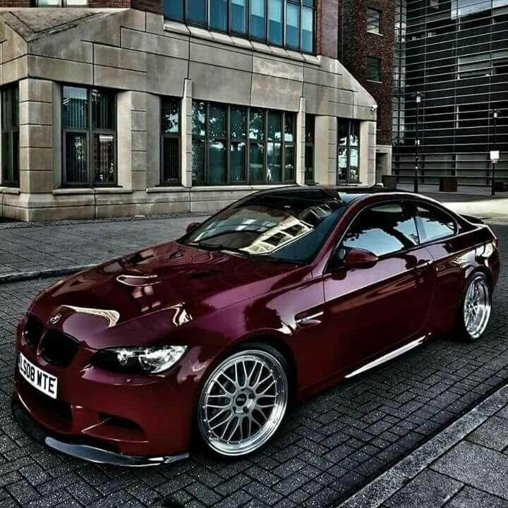 BMW E92 M3 burgundy