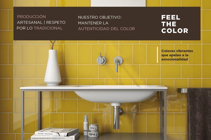 ☰ Respeto por lo tradicional ☰    |Producimos capa a capa para proteger la autenticidad del color|    Queremos que el color te emocione  #Cerámica #Tiles #Artesanal #VibrantColors