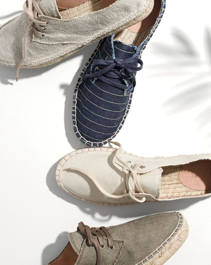 APR '15 Style Guide: J.Crew women's lace-up espadrille shoes.