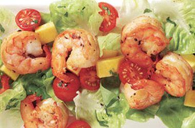Tea-Smoked Shrimp Salad With Mango | креветки, салаты ...