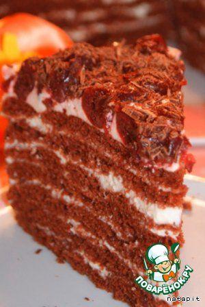 """Торт """"Шоколадно-молочная девочка"""" - кулинарный рецепт"""