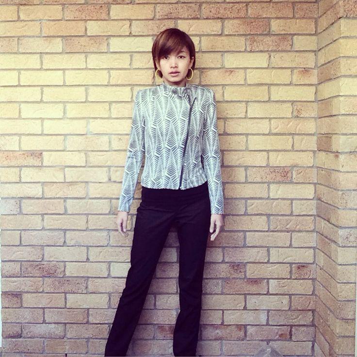 Today's look | jacket @metalicusaustralia | pants @cueclothingco | #thecueclub #ootd #fashionandfeline #bikerjacket #mymetalicusstyle #statementjacket #asianfashionmodel #corporatestyle #corporatefashion #corporatechic #workfashion #lookoftheday #fashiongram #时装 #おしゃれ #fashioninspo #workwear #cueclothingco #australianfashionlabels #australianfashionblogger #whatiwore #styleinspo #lookbook #fashionphotography #corporatewear #everydaystyle