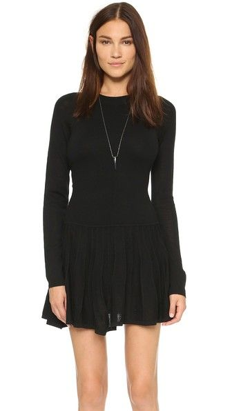Susana Monaco Edith Pointelle Sweater Dress