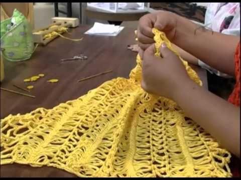 Mulher.com 19/11/2012 Eliete Massi - Blusa com crochê de grampo 2/2 - YouTube