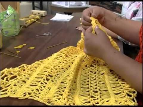Crochet en Horquilla Blusa de Verano. - YouTube                                                                                                                                                      Más