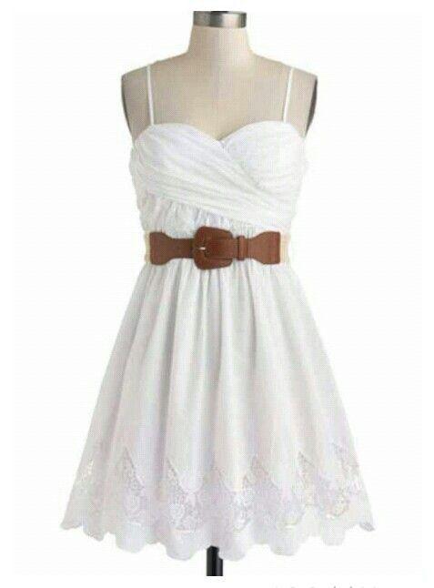 Cute laced white dress