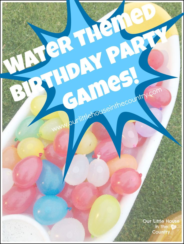 Water Themed Birthday Party Games