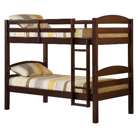 Walker Edison Solid Wood Bunk Bed - Brown (Twin)