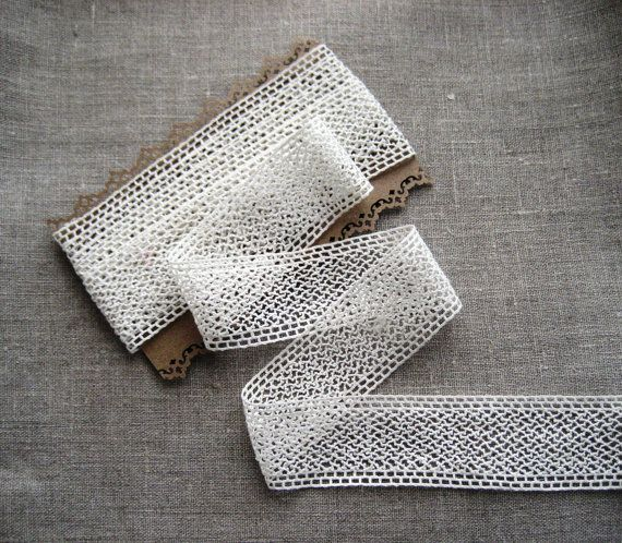 French Vintage Lace Edging  40mm wide  2 by Chezpetitpica on Etsy, €7.50