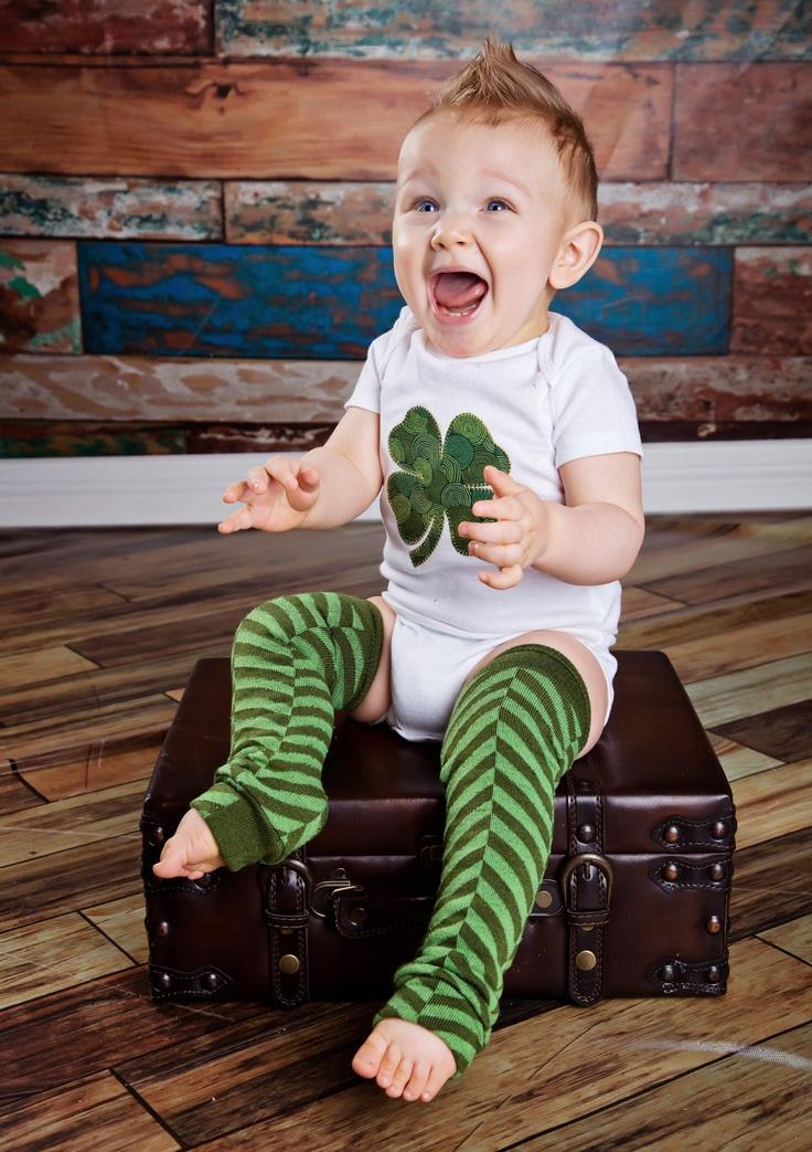 St. Patty's Day Shamrock Outfit. $28.00, via Etsy.