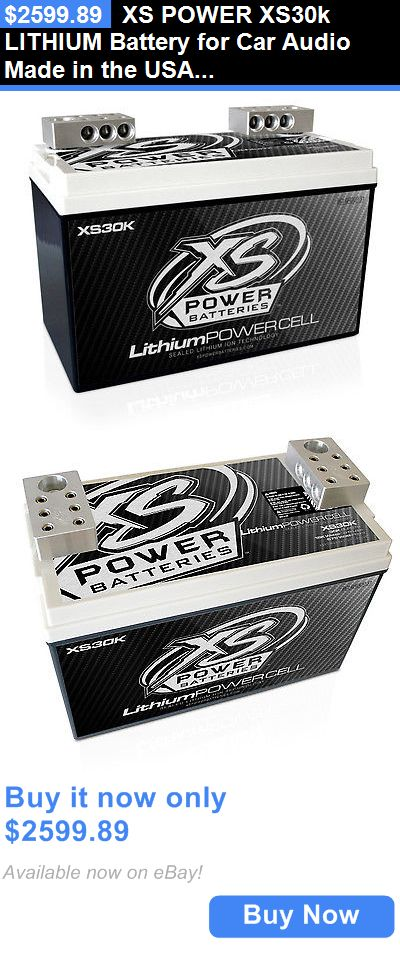 Other Car A V Installation: Xs Power Xs30k Lithium Battery For Car Audio Made In The Usa 15K Watts Rms BUY IT NOW ONLY: $2599.89