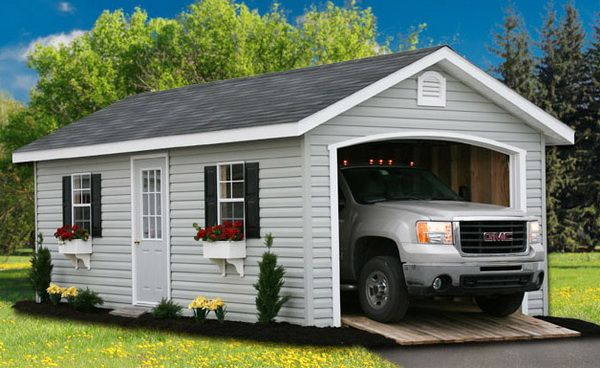 40 best single car garage design images on pinterest for Credit garage auto