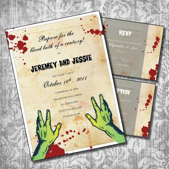 Zombie Wedding Invitations
