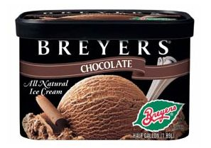 Breyers ice cream (most basic flavors are gluten-free; again, always check the ingredients!)