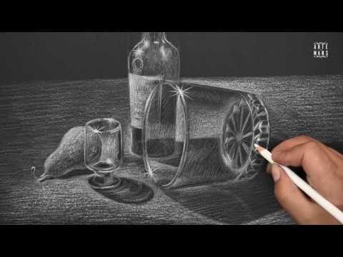 Cómo hacer un dibujo hiperrealista de un vaso de agua - Arte Divierte - YouTube
