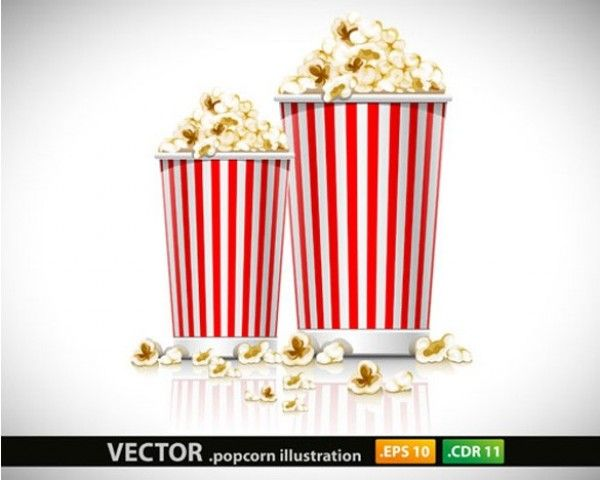 Tasty Movie Popcorn in Striped Containers Vector Graphic - http://www.welovesolo.com/tasty-movie-popcorn-in-striped-containers-vector-graphic/