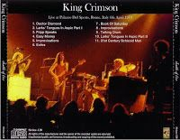 ThinkFloyd61: King Crimson – Palazzo Del Sport, Rome, Italy – April 6, 1973 (Flac)