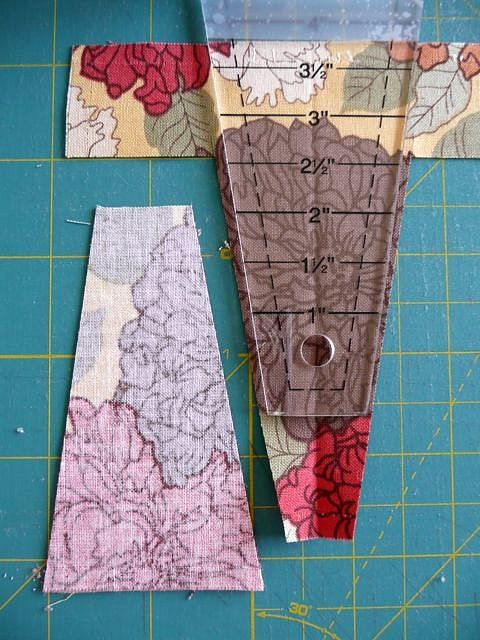 "Bloom: How to cut Dresden plate wedges from 5"" charm squares"