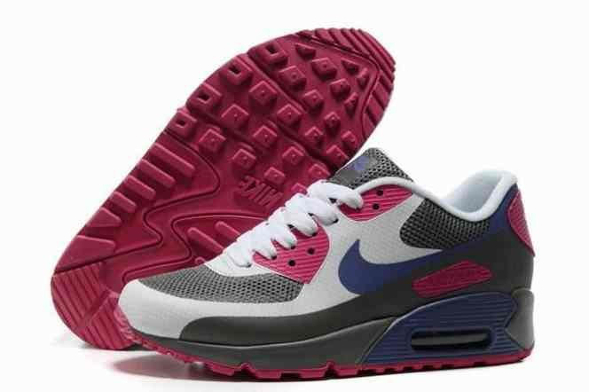 2015 Cheap Air Max 90 Hyperfuse Prm Womens Shoes For Sale Grey White Red…
