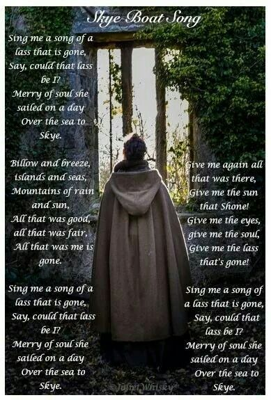 Outlander Series opening words to the song....