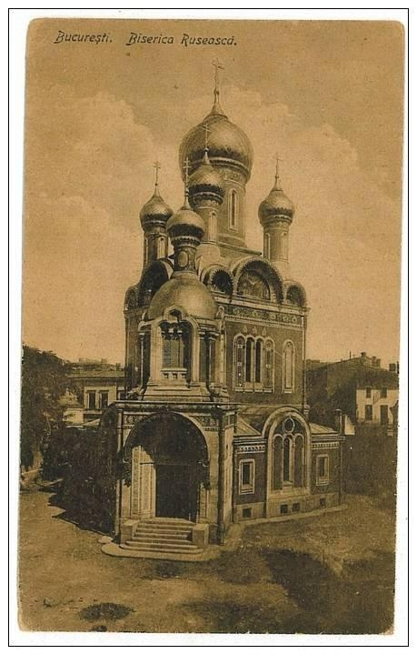Bucuresti - Biserica Rusa - interbelic
