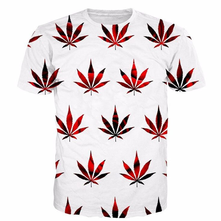 Cannabis Chills Red Black Weed Leaves Seamless Graphic Cool 3D T-shirt #Cannabis #Chills #Weed #Leaves #Seamless #Graphic #Cool #3D #Tshirt