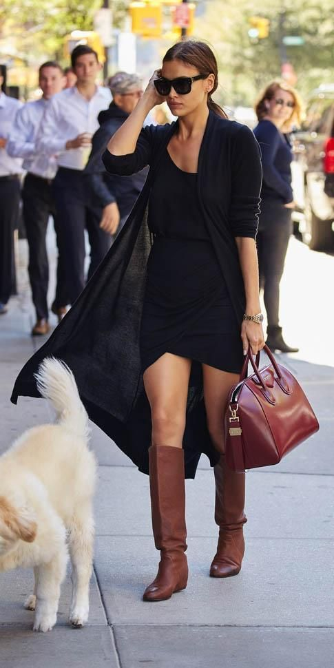 032887ae8e456 Irina Shayk wearing Celine Large Audrey Sc 1755 Black Sunglasses
