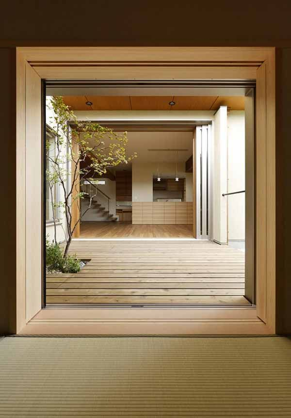 Love this entryway. Minimalist Japanese House Design by TSC Architects