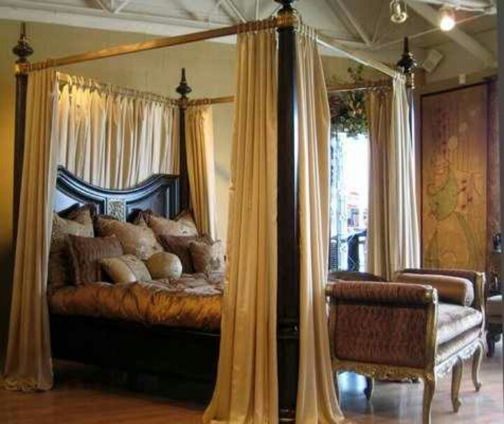 29 best images about dorian 39 s room on pinterest revolvers american rag and record player - Four poster bed curtains ...