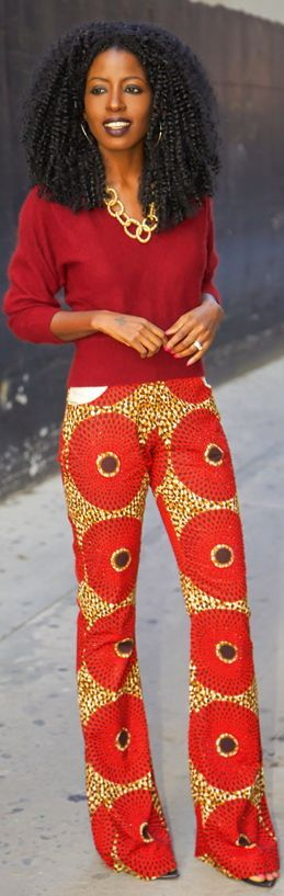 African Fabric, Ankara, African Shop , #Ankara, #AfricanFabric, #ankarapants Floral African pants Repinned by thecelestinecollection.com