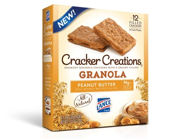 Cracker Creations®: Granola with Peanut Butter Filling - This special Cracker Creations flavor has a luxuriously creamy peanut butter sandwiched between two crunchy granola crisps.
